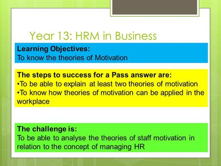 3 3 evaluate the usefulness of a motivation theory for managers at the tesco in ireland Employee motivation theories when maslow's hierarchy of needs is applied to work situations, it implies that managers have the responsibility, firstly.