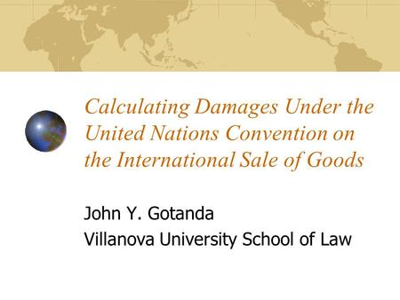 John Y. Gotanda Villanova University School of Law