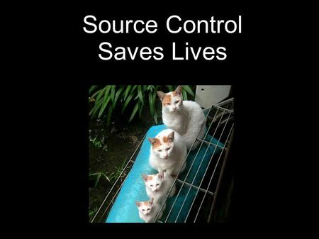 Source Control Saves Lives. Lorna Mitchell Source Control Saves Lives BarCamp Leeds What is Source Control? Central filestore Change history Audit trail.