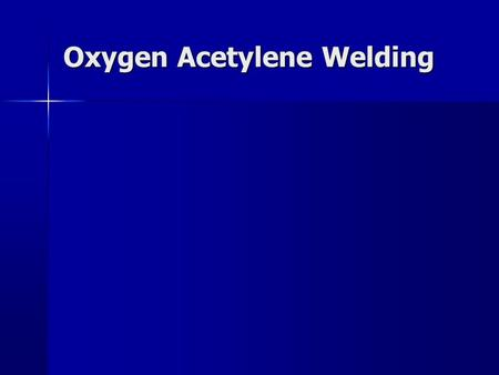 Oxygen Acetylene Welding. OXY-ACET EQUIPMENT I. CYLINDERS I. CYLINDERS  Cylinders are controlled by the Interstate Commerce Commission.  If you buy.
