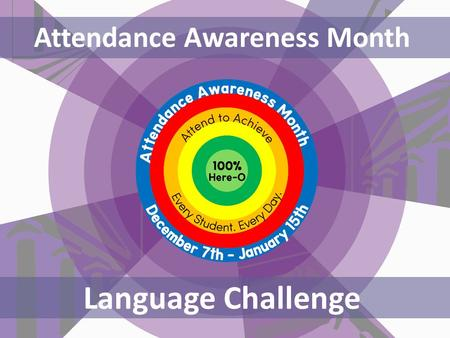 Attendance Awareness Month Language Challenge. Her outstanding attendance had a positive affect on her exam results. Her lack of attendance risks negatively.