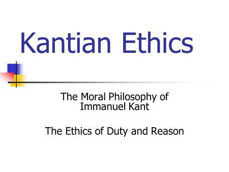 Ethics: Utilitarianism, Part 1