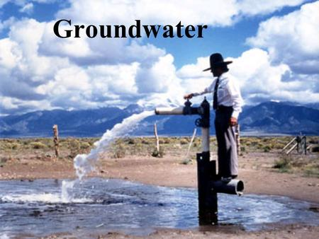 Groundwater. Groundwater is water that completely fills (saturates) the pore spaces of soil or rock formation below the water table. Water that shares.