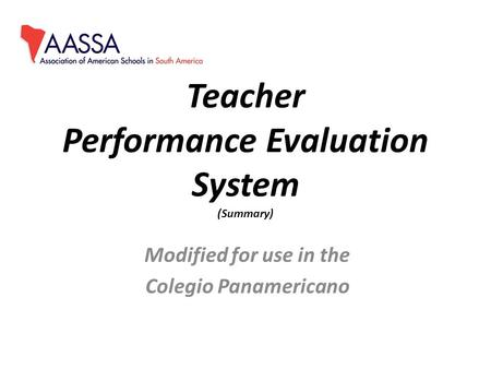 what should be the basis of ppt video online  teacher performance evaluation system summary