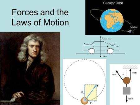 Forces and the Laws of Motion F resistance F forward F ground-on-car F gravity.