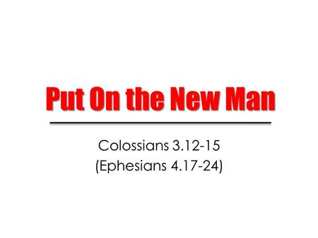 Colossians (Ephesians )