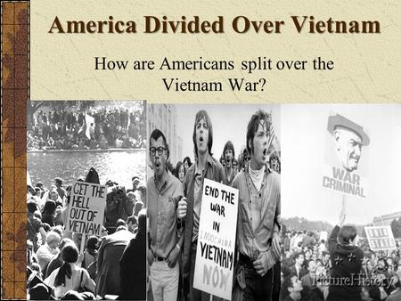 The vietnam war and the split country