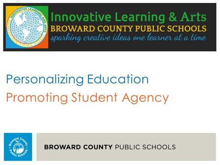 Personalizing Education Promoting Student Agency.