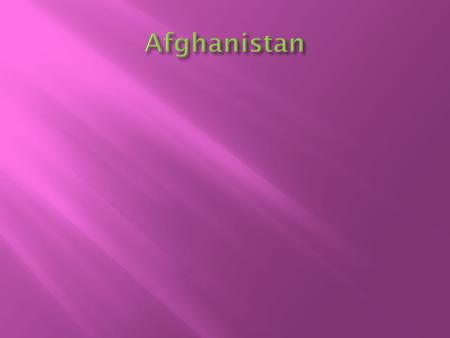 Afghanistan's background  The country served as a buffer between the British and Russian Empires until it won independence  The Soviet Union invaded.