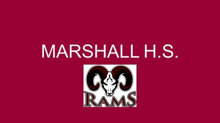 MARSHALL H.S.. Change in demographics due to district growth new schools changing boundaries Increase in refugee enrollment 1 st High School for NISD.