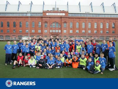 Community Programme & Study Centre Rangers Soccer Schools Rangers Charity Foundation Follow with Pride Rangers in the Community.