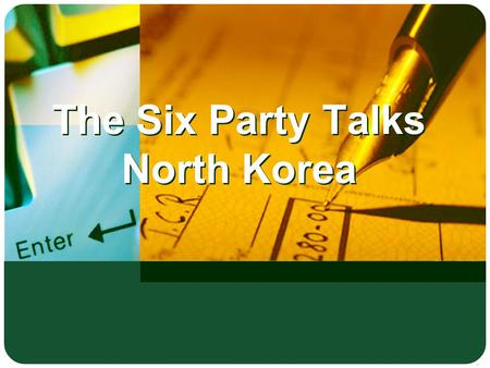 The Six Party Talks North Korea. LOGO Tran Thi Bich Ngoc The Six Parties NK Six Party Talks.