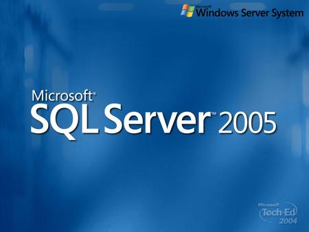 "DAT325 SQL Server 2005 (Codenamed ""Yukon""): Using the Service Broker To Build Asynchronous, Queued Database Applications Roger Wolter Program Manager."