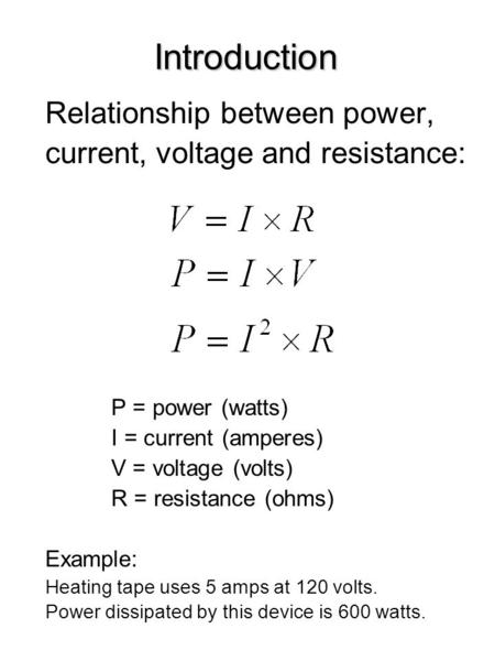 voltage power and current relationship status