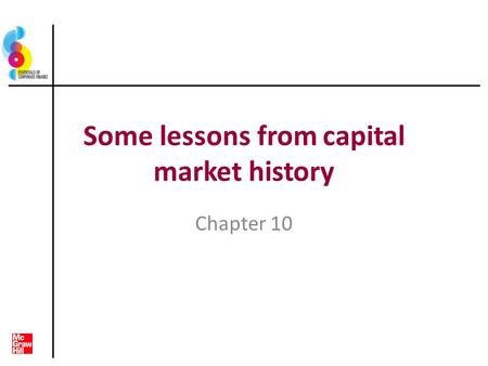 Some lessons from capital market history Chapter 10.