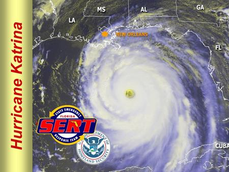Hurricane Katrina. Please move conversations into ESF rooms and busy out all phones. Thanks for your cooperation. Silence All Phones and Pagers.