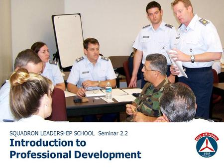 SQUADRON LEADERSHIP SCHOOL Seminar 2.2 Introduction to Professional Development.