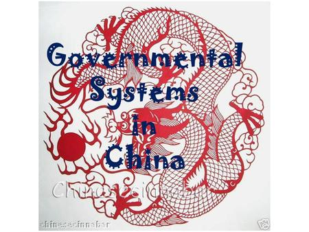 Governmental Systems in China. Imagine you must have someone hold $100.00 for you for one year. Who would you want to hold the money; a family member.
