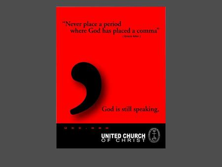 Proclaiming UCC Identity The Stillspeaking Initiative  Isn't it time we let the secret out about the United Church of Christ?  Isn't it time we eliminated.