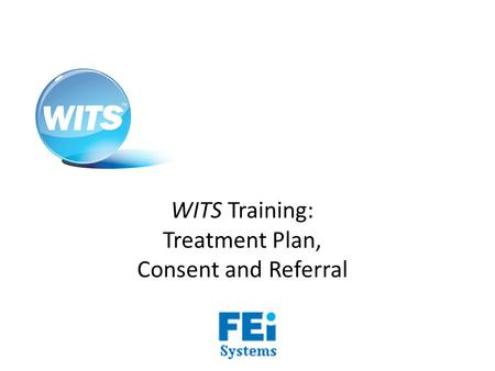WITS Training: Treatment Plan, Consent and Referral.