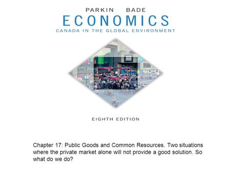 Successfully Chapter 17: Public Goods and Common Resources. Two situations where the private market alone will not provide a good solution. So what do.