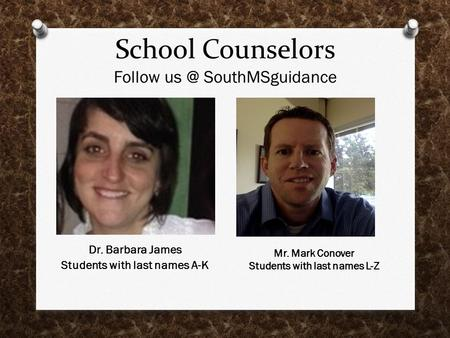 School Counselors Follow SouthMSguidance