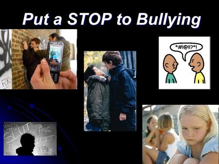 Put a STOP to Bullying. Don't Laugh At Me Don't Laugh At Me.