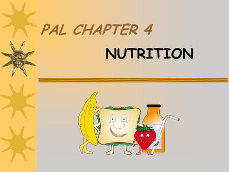 PAL CHAPTER 4 NUTRITION WHY WE EAT THE FOOD WE EAT  Family Influences  Ethnic Background  Advertisements  Region of the Country in Which You Live.