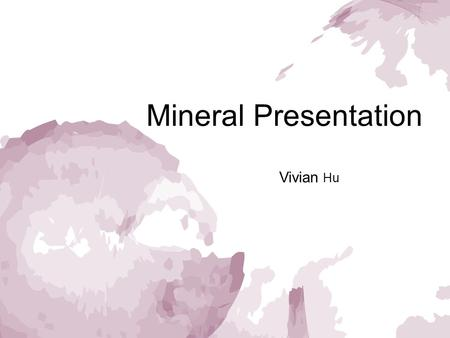 Mineral Presentation Vivian Hu. Halite ['hælaɪt] Halite is the mineral form of sodium chloride (NaCl), which is commonly known as rock salt, from melting.