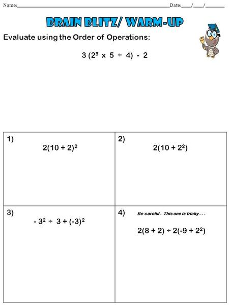 Dating order of operations