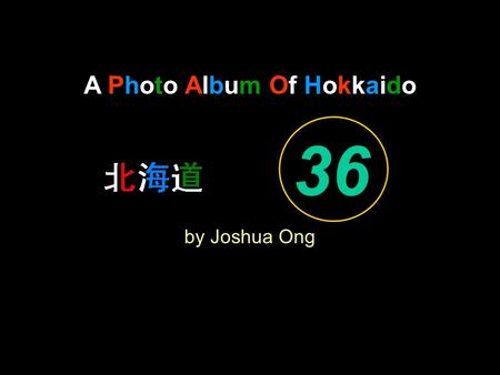 A Photo Album Of Hokkaido by Joshua Ong 36. What a Friend we have in Jesus.