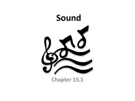 Sound Chapter 15.1. Properties of Sound Sound waves – Longitudinal Waves – Caused by vibrations – Carry energy outward, which hit your ear.