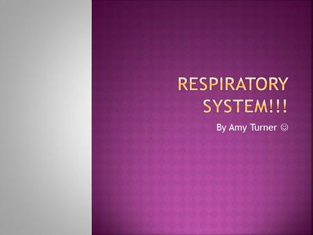 By Amy Turner.  The respiratory system is your lungs and heart!  To see a animation of the heart-lung machine/system go to