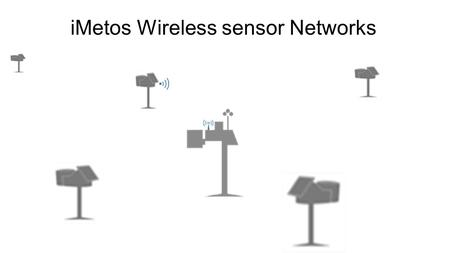 IMetos Wireless sensor Networks. Definitions I : Radio WAP(W ireless A ccess P oint ) The WAP is the radio interface needed to command the iMetos3 radio.