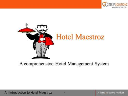 A Terrasolutionz Product Hotel Maestroz Hotel Maestroz A comprehensive Hotel Management System An Introduction to Hotel Maestroz 1.