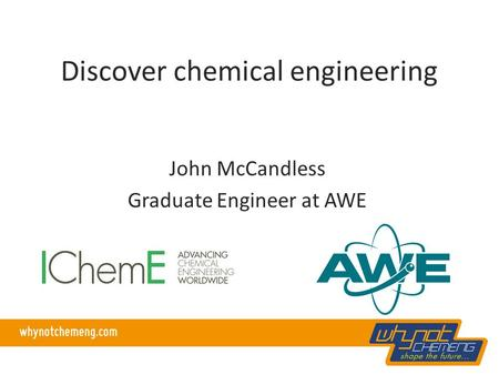 Discover chemical engineering