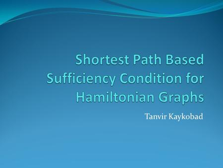 Shortest Path Based Sufficiency Condition for Hamiltonian Graphs