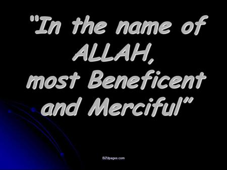 "BZUpages.com ""In the name of ALLAH, most Beneficent and Merciful"""