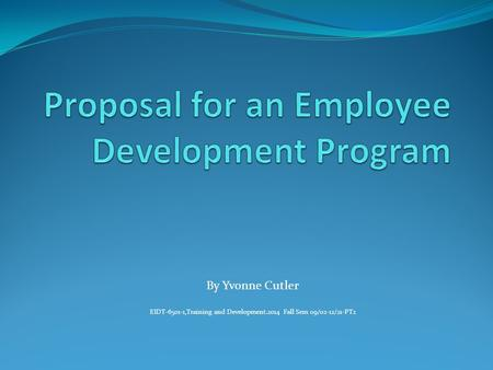 Proposal for an Employee Development Program
