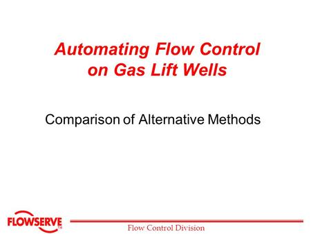 Automating Flow Control on Gas Lift Wells
