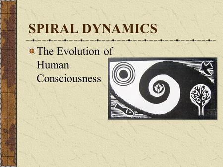 SPIRAL DYNAMICS The Evolution of Human Consciousness.