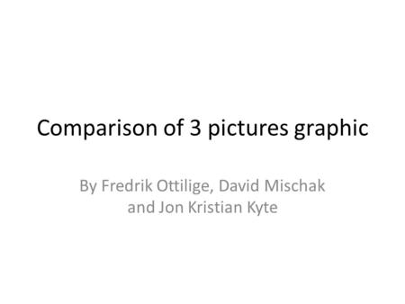 Comparison of 3 pictures graphic By Fredrik Ottilige, David Mischak and Jon Kristian Kyte.