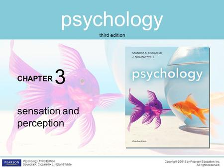 Psychology CHAPTER Copyright ©2012 by Pearson Education, Inc. All rights reserved. Psychology, Third Edition Saundra K. Ciccarelli J. Noland White third.
