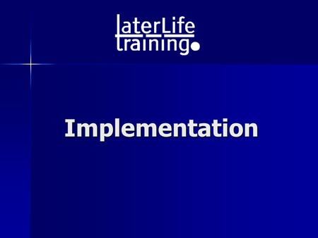 Implementation. Remember the overall goals! Strength & Balance exercises: 3 x week (rest days between), 30 mins PLUS Walking: If safe, 2 x week, 30 mins.