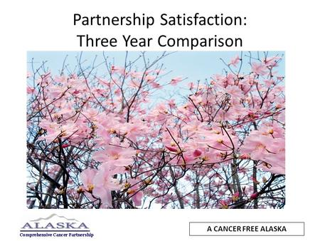 Partnership Satisfaction: Three Year Comparison A CANCER FREE ALASKA.