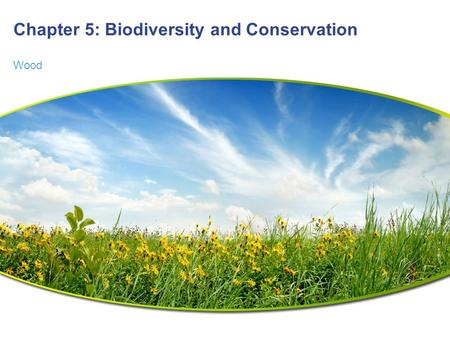 Chapter 5: Biodiversity and Conservation Wood. Chapter 5 Outline  Main Idea: Community and ecosystem homeostasis depends on a complex set of interactions.