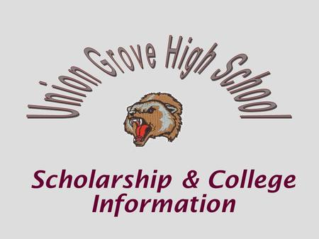 Scholarship & College Information. Enter this number Text this message Join The UGHS Senior Class of 2016 SCHOLARSHIP Newsletter!