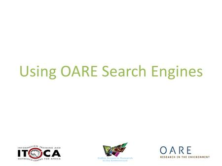 Using OARE Search Engines. Environmental Index (EBSCO) Advanced Search.
