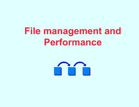 File management and Performance. File Systems Architecture device drivers physical I/O (PIOCS) logical I/O (LIOCS) access methods File organization and.