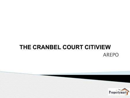 THE CRANBEL COURT CITIVIEW AREPO. We are pleased to announce the launch of our new and elegant product, the Cranbel Courts Apartment, Citiview, Arepo.